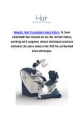 Artas Robotic Hair Replacement In Boca Raton, FL