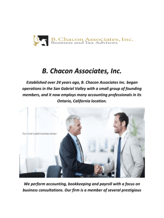 B. Chacon Accountants in Ontario