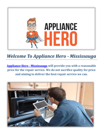 Appliance Hero - Microwave Repair in Mississauga, Ontario