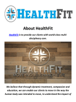 HealthFit Physical Therapist In Pasadena
