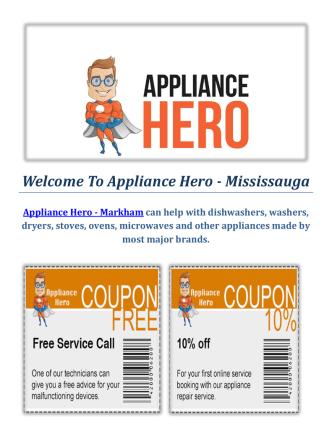 Appliance Hero | Appliance Repair Service In Markham