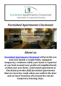 Furnished Apartment Rentals in Cincinnati, OH