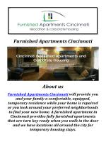 Furnished Apartment Rentals in Cincinnati, OH