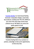 Metal Roofing Austin TX  : Transition Roofing
