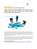 Global and Chinese Polyvinylchloride(PVC) Industry 2016 Market Share and Size, Growth and Trends, Analysis Research Report By Hexa Reports