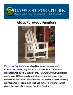 Polywood Furniture Rocking Chairs