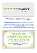 Imageworks Supply : Canvas Stretcher Bars in NY