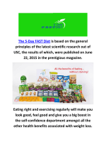 The 5-Day Fast Mimicking Diet In Tenafly NJ