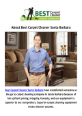 Best Carpet Cleaning Santa Barbara, CA