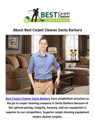 Best Carpet Cleaning Santa Barbara, CA