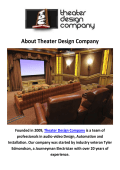 Home Theater Design Installation Company in Seattle