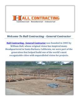Hall Contracting - General Contractors in Santa Barbara, CA