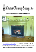 Estates Chimney Sweep Inc Gas Fireplace Philadelphia PA