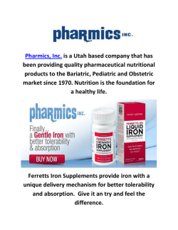 Buy Over The Counter Iron Supplements At Pharmics, Inc.