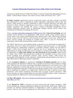Customer Relationship Management Services Market