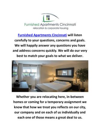 Cincinnati OH Furnished Apartments