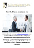 B. Chacon Associates, Inc. Accounting Firms in Ontario