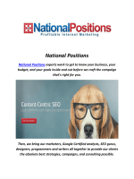 National Positions Seo Company In Los Angeles