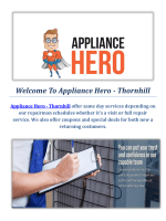 Appliance Hero | Appliance Repair Service In Thornhill