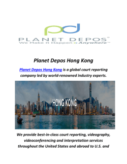 Planet Depos Court Reporting Service In Hong Kong