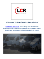 Quality Car Hire Services in London : London Car Rentals Ltd