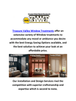 Treasure Valley Window Blinds Treatments In Boise, Idaho