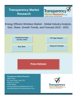 Growth Of Energy Efficient Windows Market 2015 - 2023