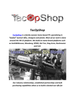 Bushmaster AR15 For Sale : TacOpShop