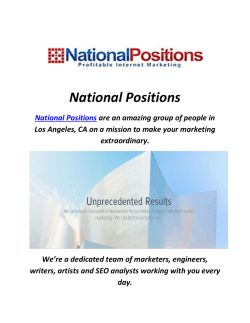 Ppc Agency In Los Angeles : National Positions