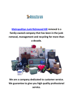 Metropolitan Junk Removal Richmond-Hill, Ontario