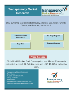 LNG Bunkering Market Research 2014 - 2025