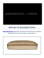 Randolph & Hein : Handmade Furniture Store Los Angeles
