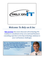 Rely on IT inc :  Reliable IT Consultants in Bay Area