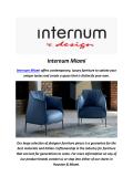 Internum Leather Sofa In Miami