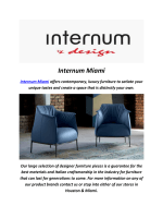 Internum Leather Sofa In Miami
