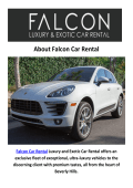 Falcon Car Rental - Luxury Suv Rental Los Angeles