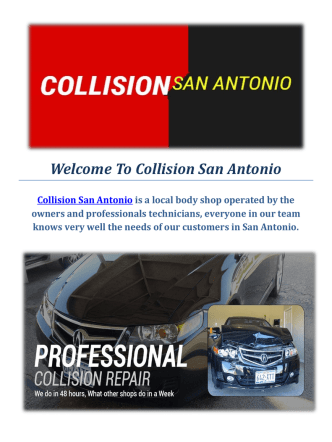 Collision Car Repair Service in San Antonio, TX