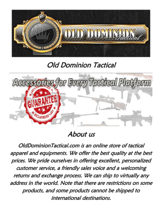 Bungee Slings at Old Dominion Tactical