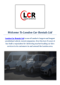 Quality Van Hire Services in London : London Car Rentals Ltd