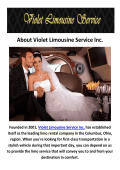 Violet Wedding Limousines Service in Columbus, OH