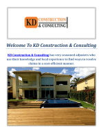 KD Construction & Consulting Company in Miami FL