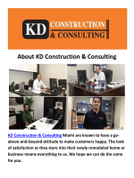 Construction Companies in Miami By KD Construction & Consulting