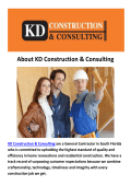 Construction Company Miami By KD Construction & ConsultingConstruction Company Miami By KD Construction & Consulting