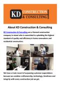 KD Construction & Consulting Company in Miami