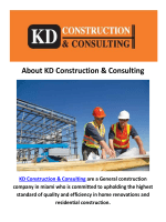 Construction Companies Miami FL By KD Construction & Consulting