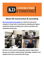 KD Construction & Consulting : Construction Company In Miami, FL (305-661-2505)