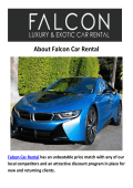 Falcon BMW And Mercedes Car Rental LA