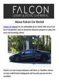 Falcon LAmborghini And Bentley Car Rental LA