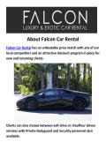 Falcon LAmborghini And Bentley Car Rental LA
