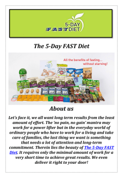 The 5-Day FAST Diet: Five Day Fasting Diet